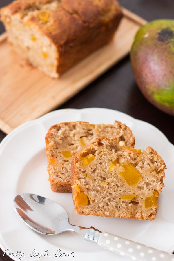 Mango Bread. Super moist fresh mango bread, with a touch of honey and cinnamon.  | Pretty. Simple. Sweet.