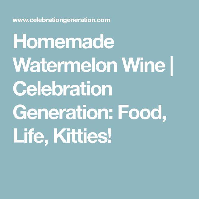 Homemade Watermelon Wine | Celebration Generation: Food, Life, Kitties!