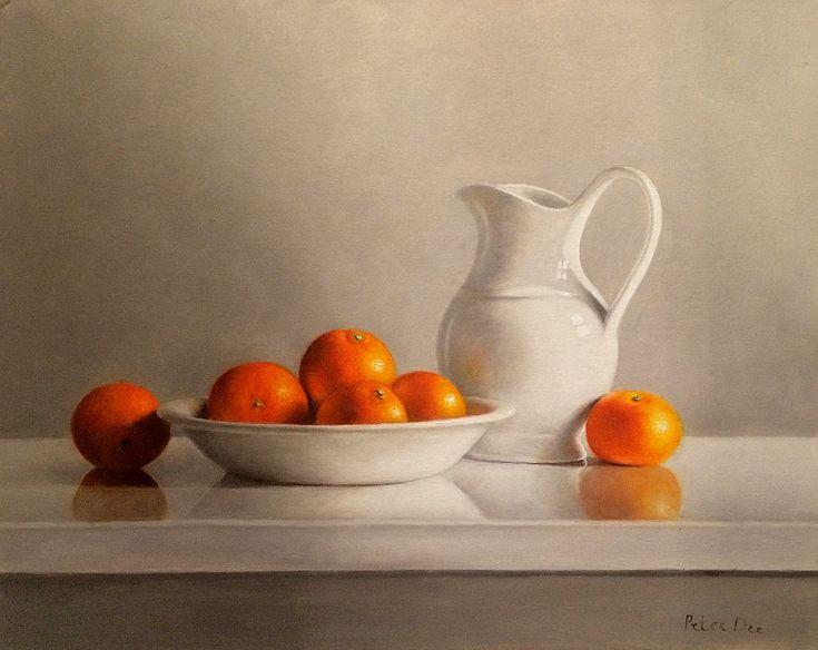 Oranges Still Life by Peter Dee | Irish Art, The Doorway Gallery, Irish Art Gallery