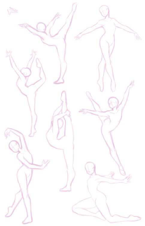 Gymnastics drawing references