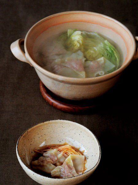 Recipe : ワンタン鍋/レタスの食感が心地よい、 さっぱり味のワンタン #レシピ #Recipe