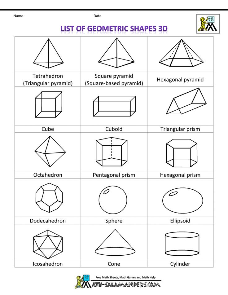 math geometric art | shapes clipart list of geometric shapes 3d bw