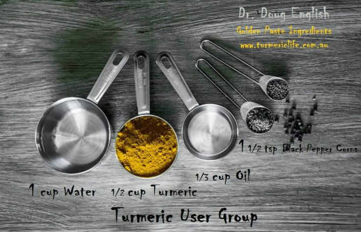 Turmeric Golden Paste - The Number 1Tturmeric recipe created by Doug English & TUG Facebook Group