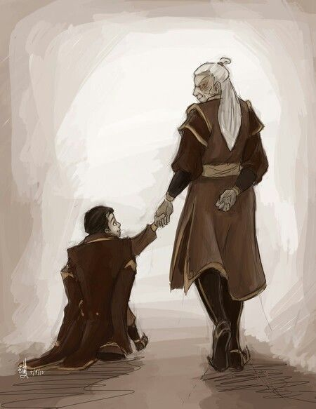 Legend of Korra- General Iroh II with his grandfather Zuko oh my goodness so many feels!