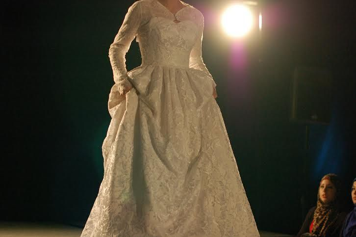 Modest wedding dress with sleeves by Stasia Modest Couture. www.stasiabridal.com Photo Credit: Sweet Modesty