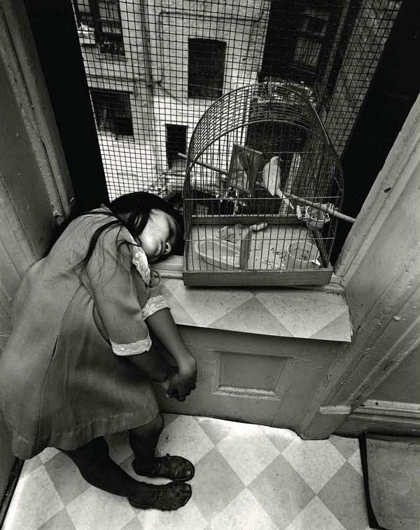 Bruce Davidson, This is such an amazing angle for this photograph and is so brilliant at showing the longing to be free when your a child