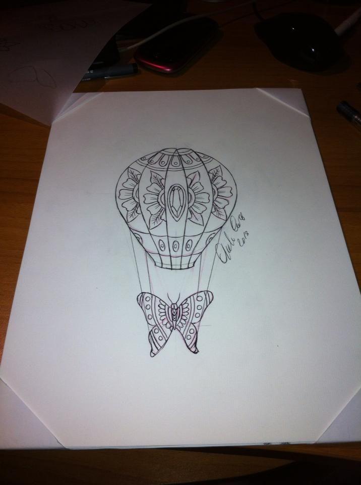 de 25 bedste id er inden for air balloon tattoo p pinterest compass tattoo vandfarve. Black Bedroom Furniture Sets. Home Design Ideas