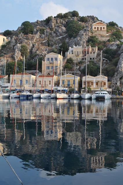 Reflections of Symi island, Greece