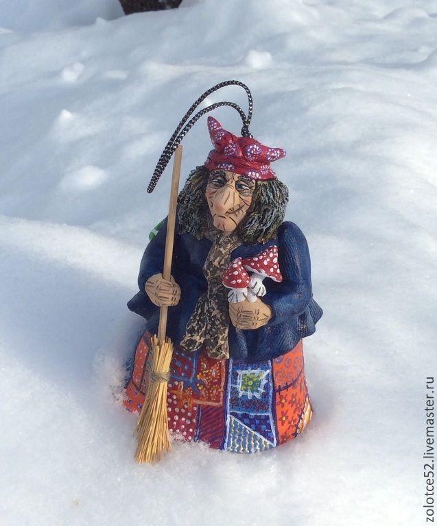 Купить Баба Яга на зимовке колокольчик - баба яга, ведьма ...: https://www.pinterest.com/pin/186195765822224713/