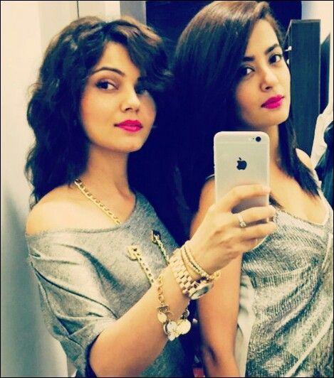 Rubina Dilaik and Surveen