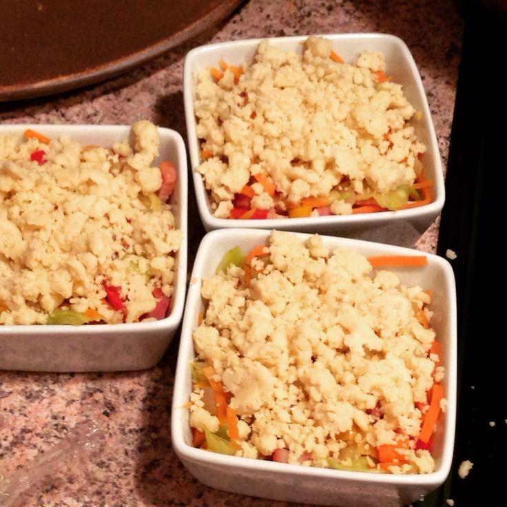 La recette d'aujourd'hui le crumble de légumes, hum #crumble #légumes #crumblesalé #crumbledeéegumes