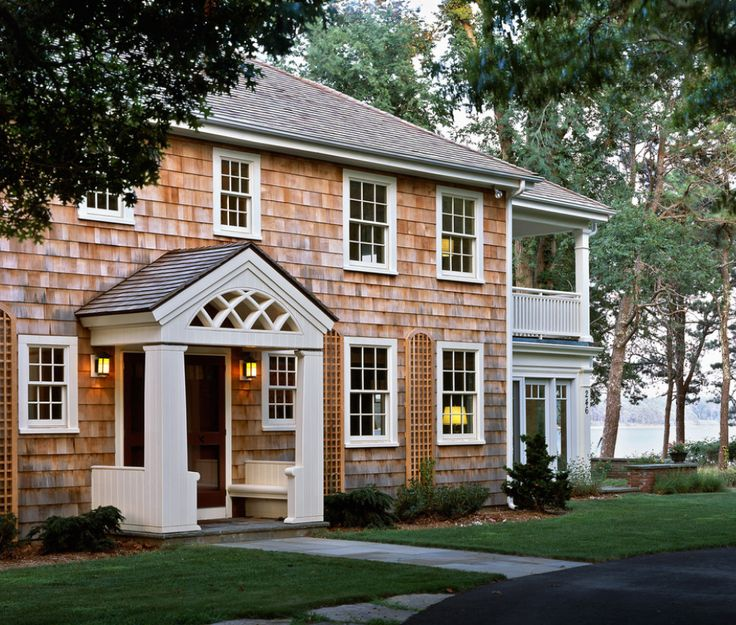 21 best rounded semi circular porticos images on pinterest for Cape cod exterior design