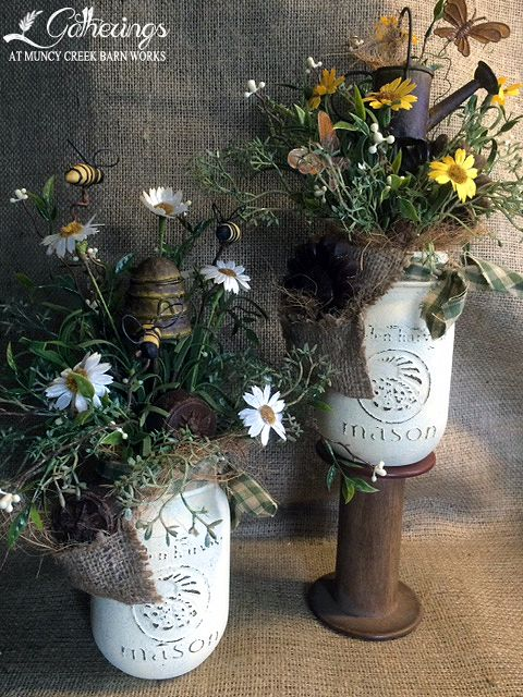Bee or Butterfly Scented Mason Jars | from Gatherings at Muncy Creek Barn Works
