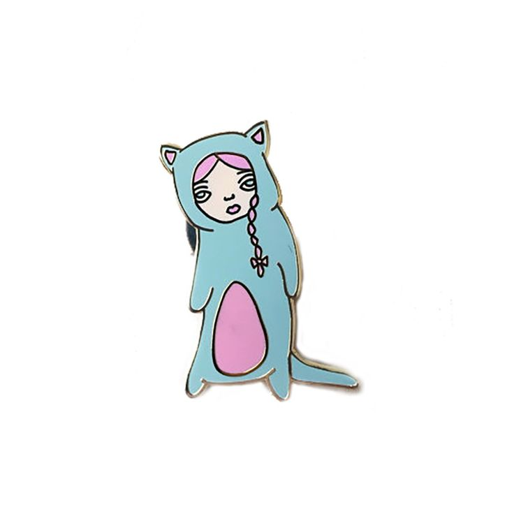 Kitten Suit Lapel Pin by AbbyMJame on Etsy https://www.etsy.com/ca/listing/291008503/kitten-suit-lapel-pin