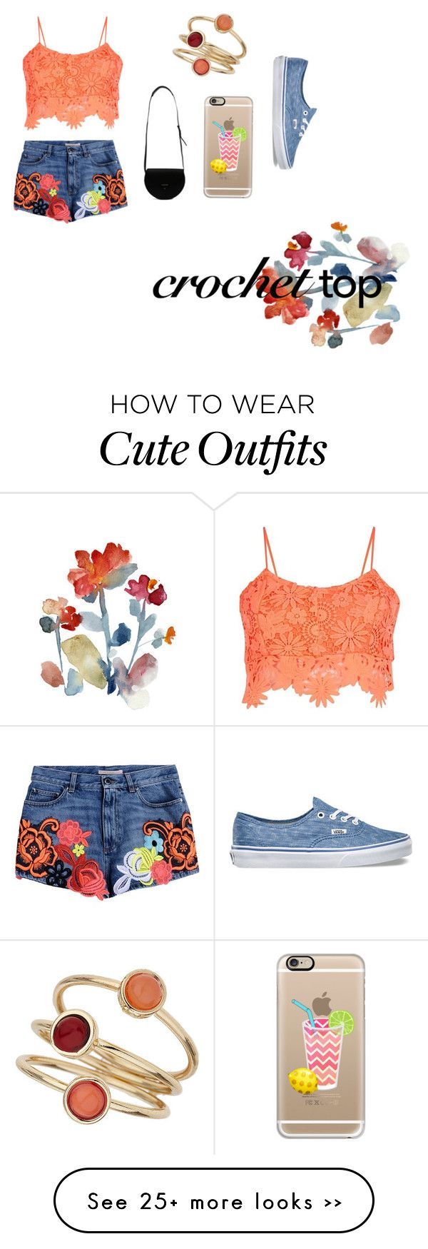 """""""Crochet top - 15. outfit"""" by veronika-rohlova on Polyvore"""