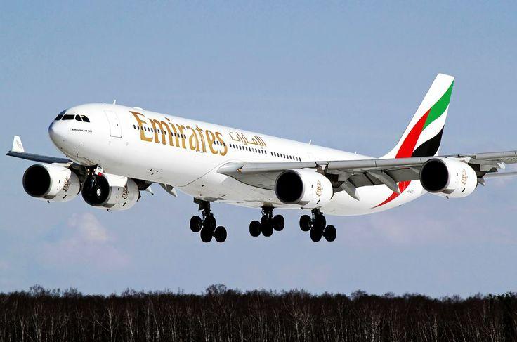 A 340 landing