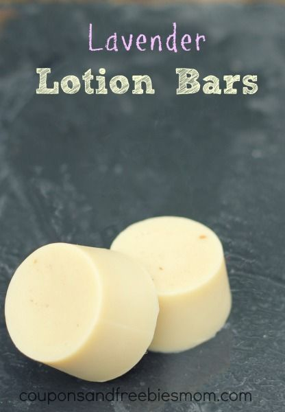 Simple Homemade Lotion Bars with only 4 ingredients.