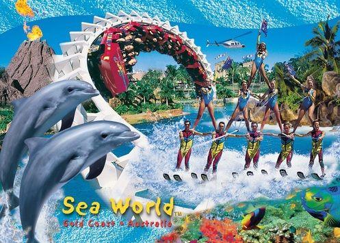 www.suzettemacgregor.com Seaworld postcard designed in photoshop - series of 5
