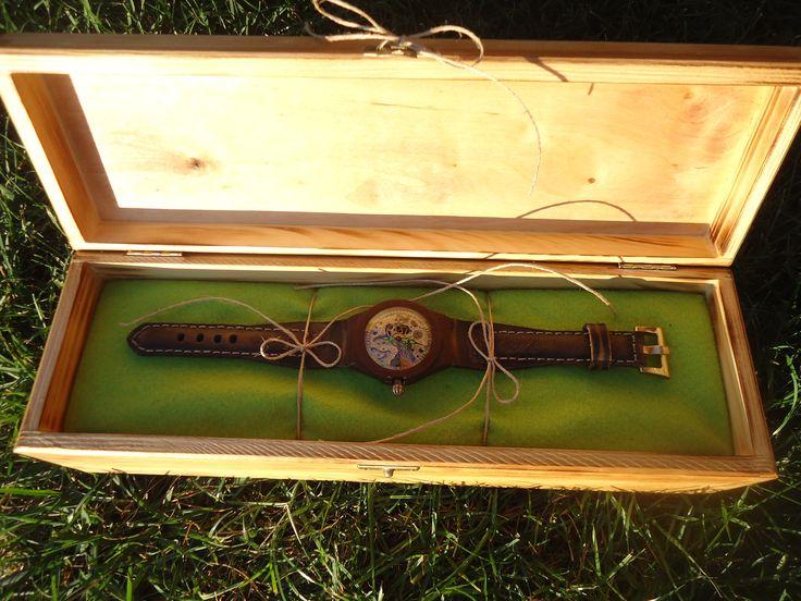 watch wood skin hand made