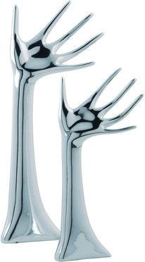 Modelo:   Hand  Servus Shiny Cromo  Descripción:  Mano decorativa cromada para colocar joyas  Código:  66508