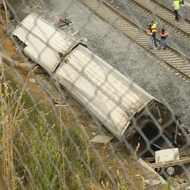 The driver of the high-speed train that derailed July 25 at a sharp curve in Santiago de Compostela, Spain, killing at least 80 passengers andinjuring 130 more, told controllers he took the curve at around 190 kilometers per hour, despite an 80 kph speed limit. He survived the crash and is now under investigation by local authorities. Even if the driver turns out to have been responsible for speeding, rail passengers might wonder what else had to fail in the safety system to allow
