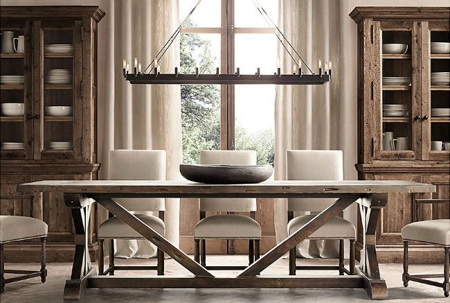 17 best images about farmhouse tables on pinterest for Restoration hardware dining room ideas