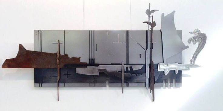 A Clear Blue Sky 230 x 790 mm Pewter, Mild Steel, Etching Artist Martie Bitzer