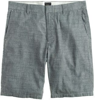 $59, Grey Shorts: J.Crew 105 Club Short In Japanese Chambray. Sold by J.Crew. Click for more info: https://lookastic.com/men/shop_items/112922/redirect