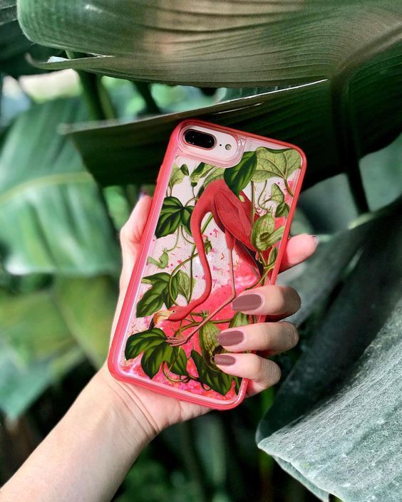Something new for Spring: Glow in the Dark Glitter Case! ✨⠀#Fifikoussout #Casetify #iPhonecase #flamingo