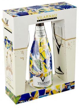Gaudi Edition Cava & Glasses Gift Set