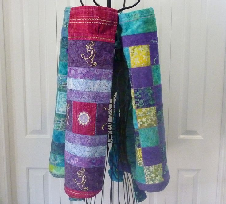 16 Best My Quilted And Embroidered Yoga Mat Bags Images On