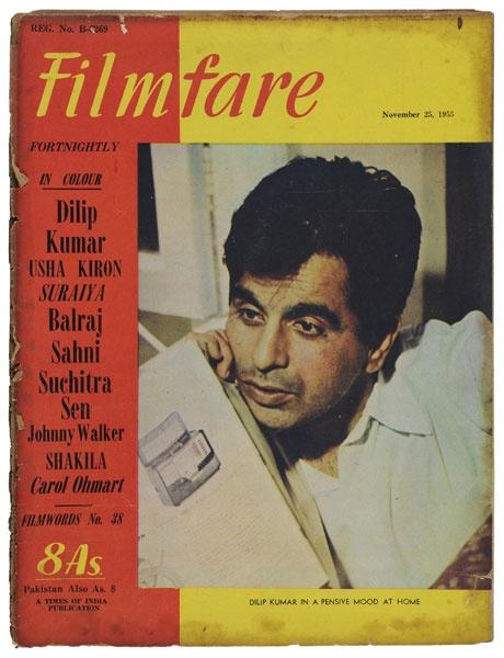 Actor Dilip Kumar on Filmfare Magazine Cover-1955 #Bollywood