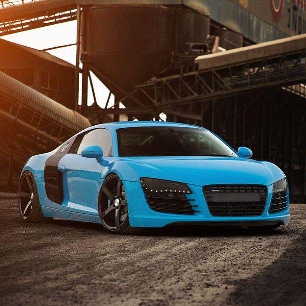 custom audi r8 ice blue