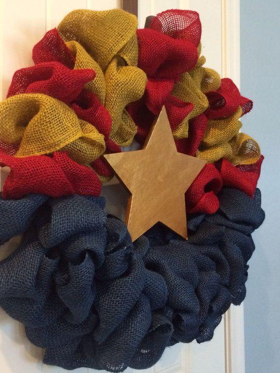 Arizona Flag -- wreath for front door!