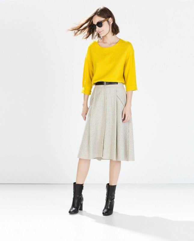 19 Ways to Wear Midi Skirts This Season via Brit + Co