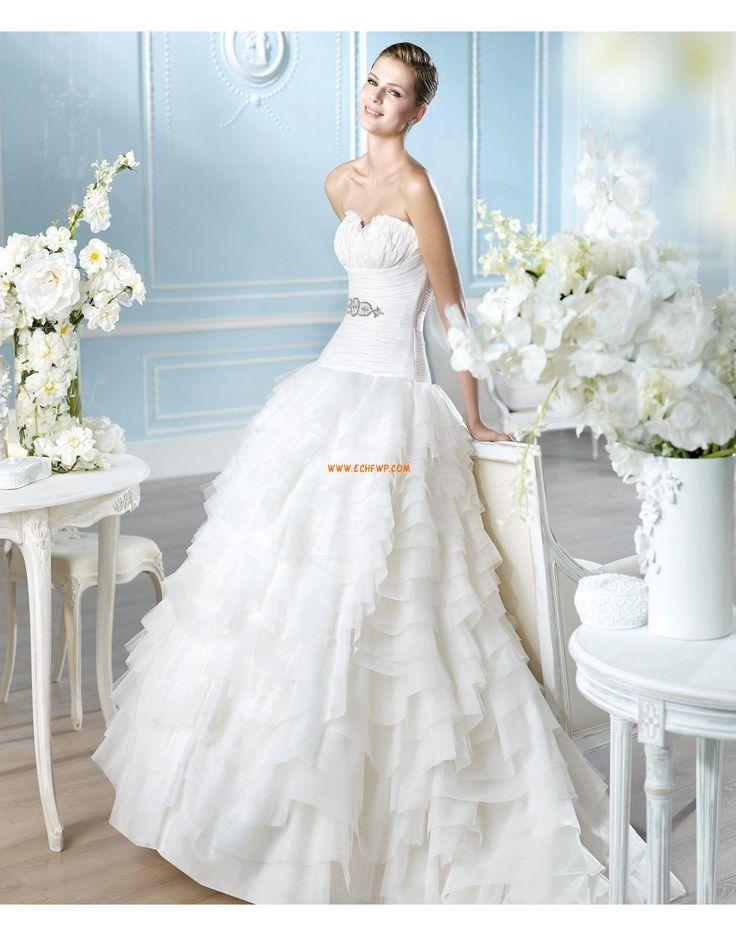 Vlečka na zem Elegantní & moderní Lemování Designer Svatební šaty