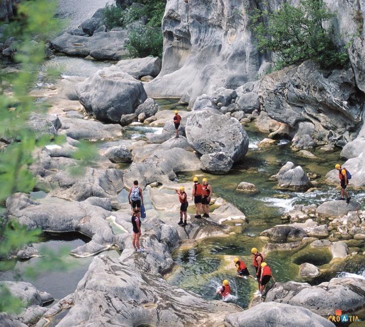 Canyoning, river Cetina, Croatia