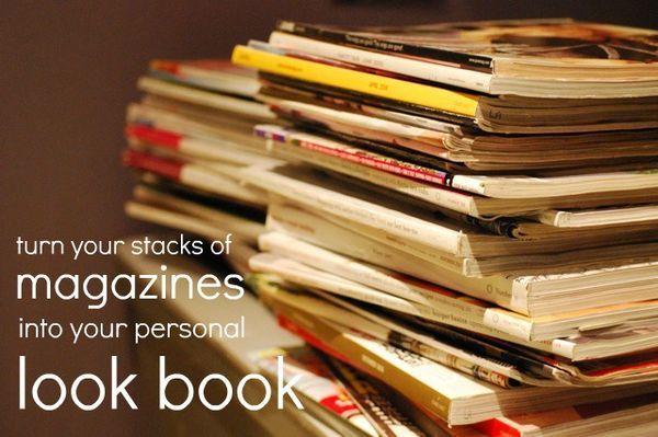 look bookDiy Ideas, Turn Magazines, Magazines Clips, Looks Book, Magazines Stacked, Look Books, Personalized Lookbook