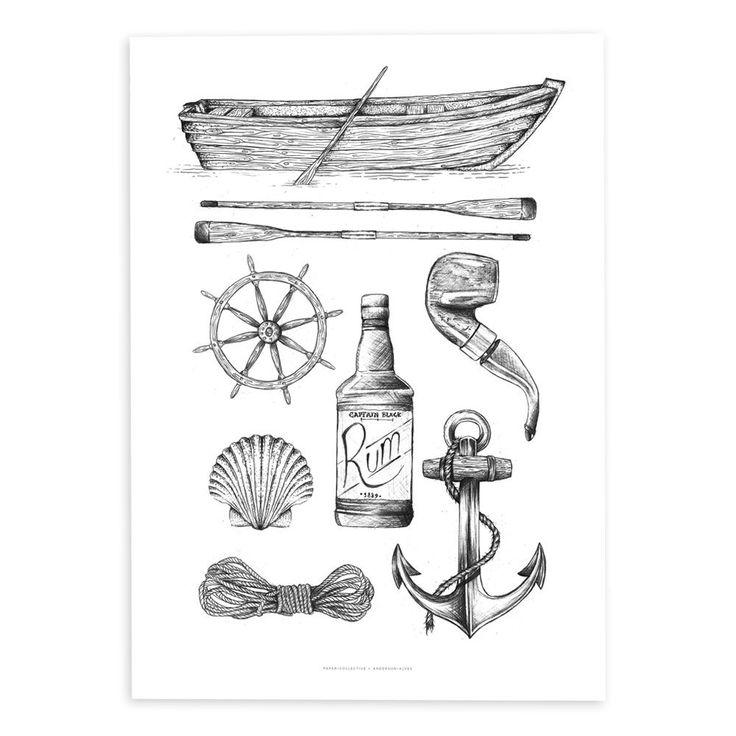 Sailor Affisch   Paper Collective   Länna Möbler   Handla online