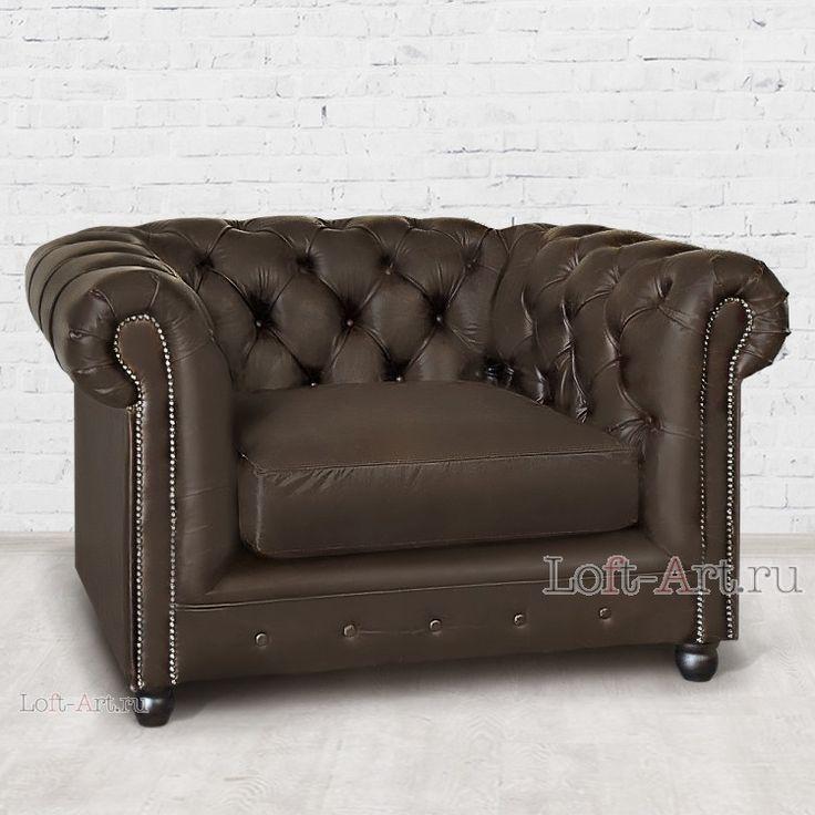 Кресло из экокожи Chesterfield - Кожаные кресла - Кресла - Диваны и Кресла В стиле Лофт купить