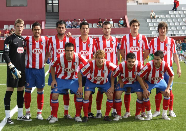 Atlético Madrid B before a game