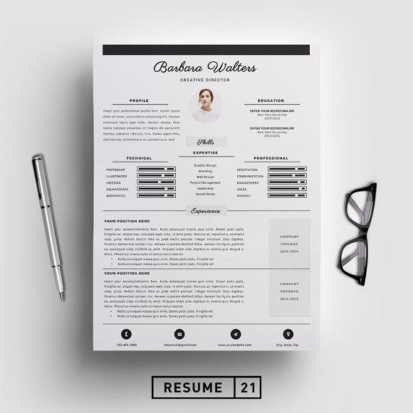 Creative Director Resume Template/CV @creativework247