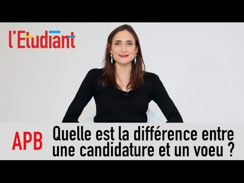Admission Post Bac (APB) : quelle différence entre une candidature et un voeu