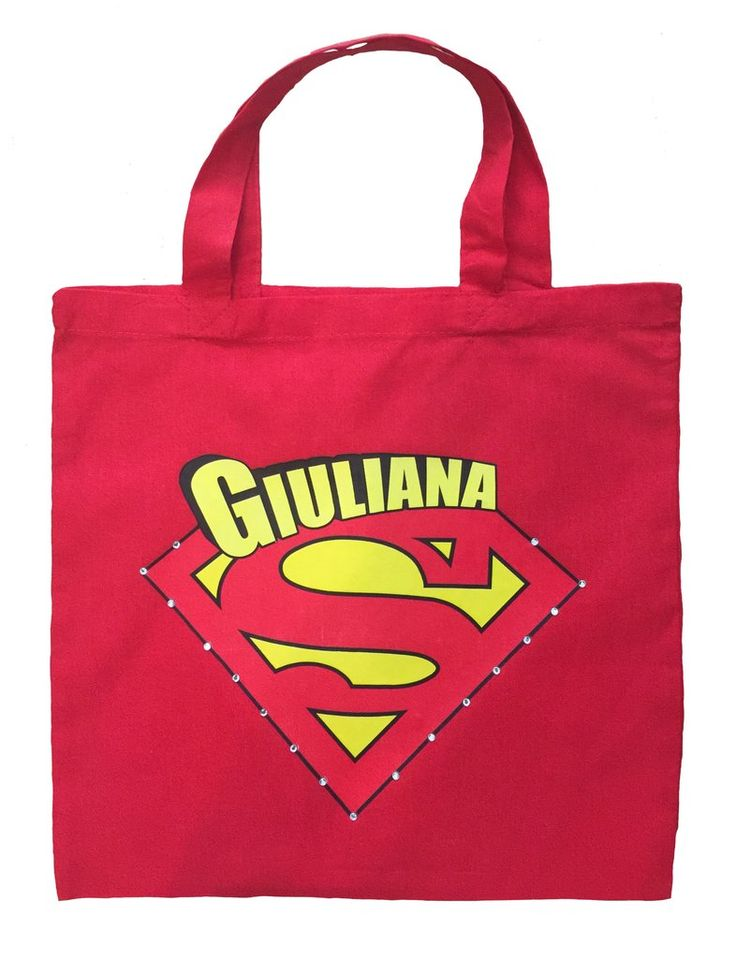 Supergirl Trick or Treat Bag - Personalized Supergirl Halloween Bag #customized-supergirl-bag #customized-supergirl-halloween-bag #customized-supergirl-trick-or-treat-bag