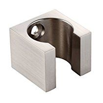 KES All Brass Handheld Shower Head Holder Bracket Wall Mount for Bathroom Hand Sprayer Wand or Toilet Hand Held Bidet Spray Brushed Nickel, C107-2