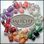 Salt City Candles.....another one of my faves (Caribbean scent) next to the Glasshouse range