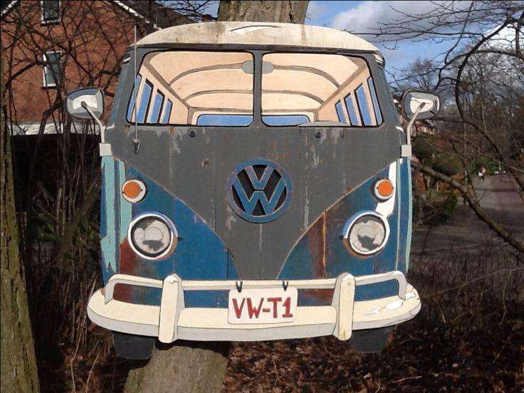 Bussies vw T1 gemaakt van recycle old wood  door Henri Wittenberg
