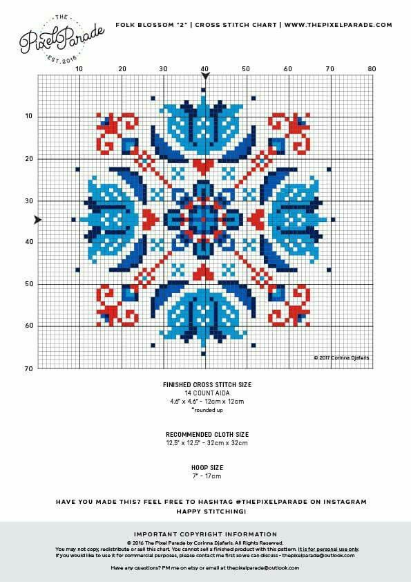 Cross stitch geometric chart