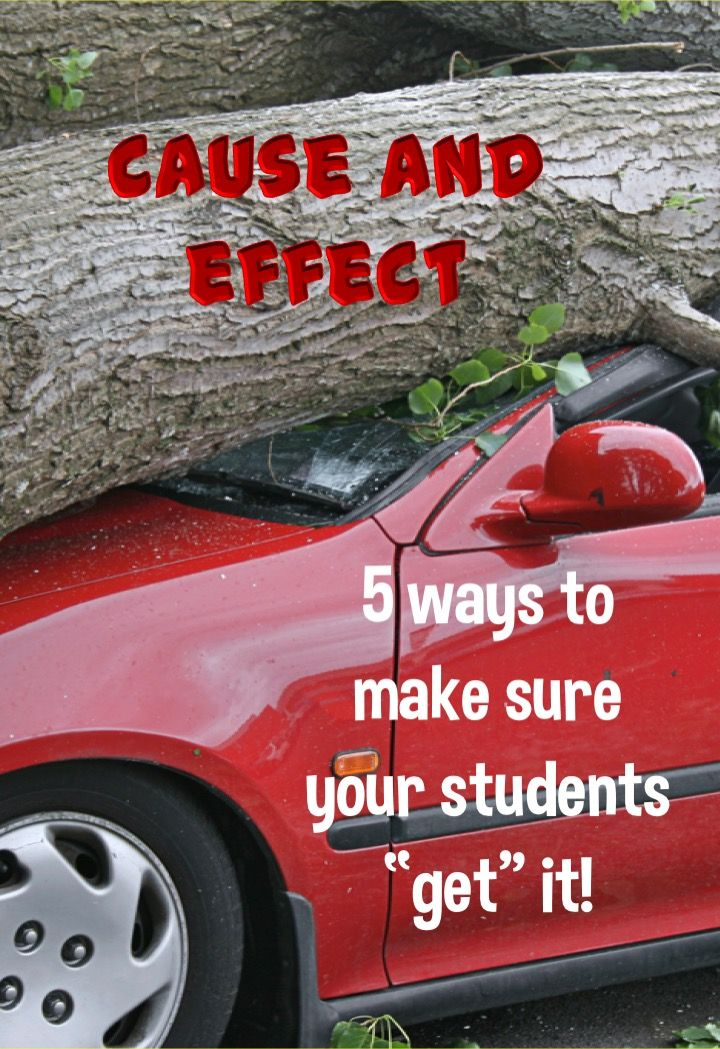 Understanding cause and effect is not only important in reading, but in daily life! Find five great ways to help students understand this concept, as well as four pages of freebies to help you teach it today!