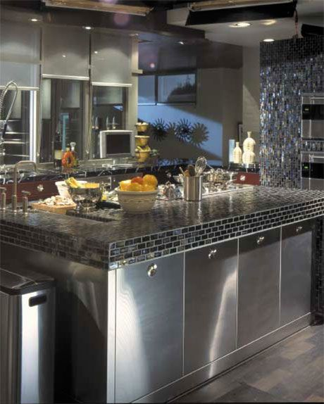 Kitchen - Mr. & Mrs. SmithDecor, Movie House, Glasses Tile, Kitchens Ideas, Interiors Design, Dreams House, Kitchens Islands, Brad Pitt, Modern Kitchens